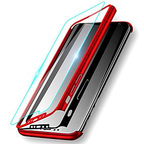 abordables Coques d'iPhone-Coque Pour Apple iPhone XS / iPhone XS Max Antichoc / Ultrafine / Dépoli Coque Intégrale Couleur Pleine Dur PC pour iPhone XS / iPhone XR / iPhone XS Max