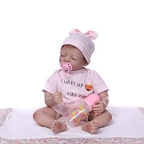olcso Babák és töltött játékok-NPKCOLLECTION Reborn Dolls Lány babák 22 hüvelyk Vinil - élethű Ajándék Kézzel készített Gyerek Uniszex Játékok Ajándék