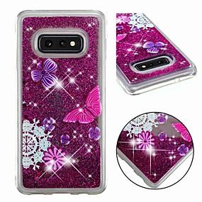 voordelige Galaxy S7 Hoesjes / covers-hoesje Voor Samsung Galaxy S9 / S9 Plus / S8 Plus Schokbestendig / Stromende vloeistof / Transparant Achterkant Vlinder / Glitterglans Zacht TPU