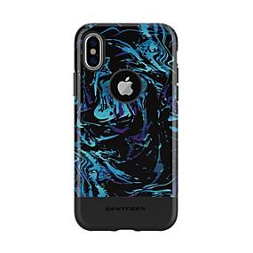 levne iPhone pouzdra-BENTOBEN Carcasă Pro Apple iPhone XS Nárazuvzdorné / Vzor Zadní kryt Jídlo / Nebeská modř / Zářící barvy Pevné TPU / PC pro iPhone XS