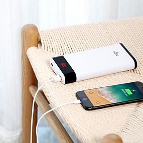 Недорогие 10000–20000 мАч-aigo 20000 mAh Назначение Внешняя батарея Power Bank 5 V Назначение 2.1 A / 1 A Назначение Зарядное устройство с кабелем LCD