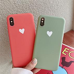 abordables Coques d'iPhone-Coque Pour Apple iPhone XR / iPhone XS Max Motif Coque Cœur Flexible TPU pour iPhone XS / iPhone XR / iPhone XS Max