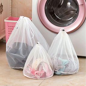 ieftine Gadget Baie-îmbrăcăminte din plasă de îmbrăcăminte cu fermoar linii fine șnururi rucsac pungă sutien lenjerie de protecție pungi de rufe pentru mașini de spălat