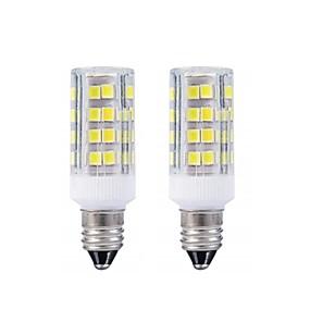 billiga LED-lampa-2st e11 led lampa varm vit 3000k / vit 6000k glödlampor 3w 20w 40w halogenlampa motsvarande mini kandelabra bas ac110 / 220v allroundriktad 360 graders belysning för takfläkt belysning