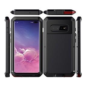 Χαμηλού Κόστους Θήκες / Καλύμματα Galaxy S Series-tok Για Samsung Galaxy Galaxy S10 Plus Αδιάβροχη / Ανθεκτική σε πτώσεις / Προστασία από τη σκόνη Πλήρης Θήκη Μονόχρωμο Σκληρή Μεταλλικό για Galaxy S10 Plus