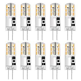 abordables Luces LED de Doble Pin-10pcs 1 W Luces LED de Doble Pin 100 lm G4 T 24 Cuentas LED SMD 3014