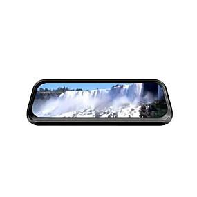 voordelige Auto DVR's-ou shilan v1 1080p streaming media achteruitkijkspiegel auto dvr 170 graden groothoek 10 inch ips dash cam met nachtzicht auto-recorder