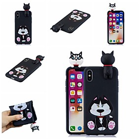 abordables Coques d'iPhone-Coque Pour Apple iPhone XR / iPhone XS Max Motif Coque Chien / Bande dessinée Flexible TPU pour iPhone XS / iPhone XR / iPhone XS Max