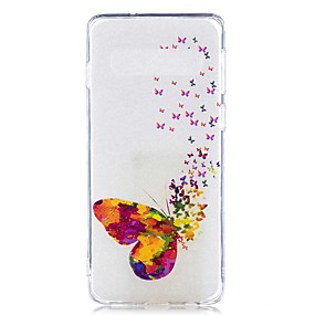 voordelige Galaxy S7 Hoesjes / covers-hoesje Voor Samsung Galaxy S9 / S9 Plus / S8 Plus Transparant / Patroon Achterkant Vlinder Zacht TPU