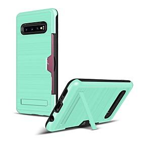 halpa Galaxy S -sarjan kotelot / kuoret-Etui Käyttötarkoitus Samsung Galaxy Galaxy S10 / Galaxy S10 Plus Korttikotelo / Iskunkestävä / Pölynkestävä Takakuori Yhtenäinen Pehmeä TPU varten S9 / S9 Plus / S8 Plus