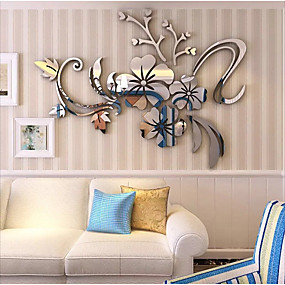 cheap Decoration Stickers-Decorative Wall Stickers - 3D Wall Stickers / Mirror Wall Stickers Arabesque / 3D Bedroom / Indoor