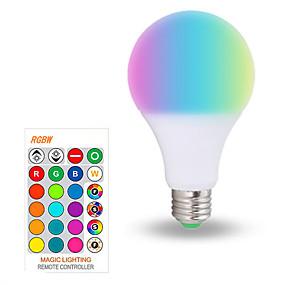 olcso LED okos izzók-1db 10 W Okos LED izzók 200-800 lm E26 / E27 A70 6 LED gyöngyök SMD 5050 Smart Tompítható Parti RGBW 85-265 V