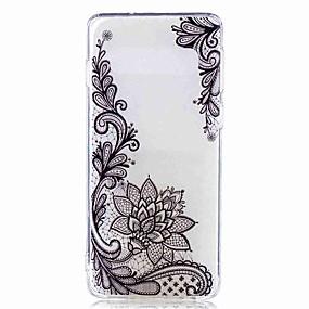 olcso Galaxy S tokok-Case Kompatibilitás Samsung Galaxy Galaxy S10 Plus / Galaxy S10 E Átlátszó / Minta Fekete tok Virág Puha TPU mert S9 / S9 Plus / S8 Plus