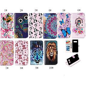 voordelige Galaxy S7 Edge Hoesjes / covers-case voor Samsung Galaxy 7100 / s9 portemonnee / kaarthouder full body gevallen dier / cartoon zachte tpu / pu leer voor s6 / s6 rand / s7