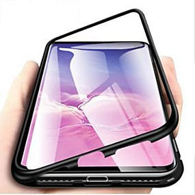 halpa Galaxy S -sarjan kotelot / kuoret-Etui Käyttötarkoitus Samsung Galaxy S9 Plus / S8 Plus Iskunkestävä / Ultraohut / Läpinäkyvä Suojakuori Yhtenäinen Kova Karkaistu lasi varten S9 / S9 Plus / S8 Plus