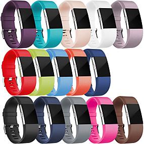 저렴한 스마트 시계 악세사리-스포츠 실리콘 팔찌 손목 스트랩 시계 밴드 팔찌 fitbit 충전 2 스마트 시계