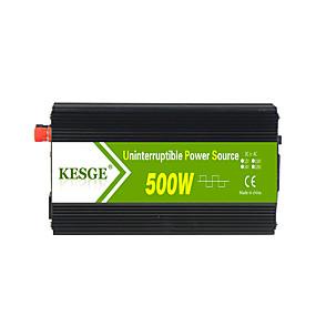 economico Inverter di alimentazione del veicolo-kesge® 500w ups per la ricarica dell'inverter sinusoidale modificato dc12 / 24-ac220v / 110v con caricabatterie