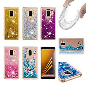 voordelige Galaxy A5(2016) Hoesjes / covers-hoesje Voor Samsung Galaxy Galaxy A7(2018) / A5 (2017) / A8 2018 Stromende vloeistof / Glitterglans Achterkant Glitterglans Zacht TPU