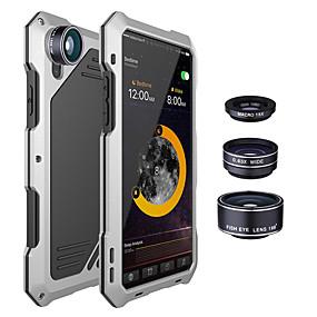 tanie Etui do iPhone-Odporna na wstrząsy metalowa obudowa tylna z 3 obiektywami aparatu dla iphone x 7/8 7/8 plus