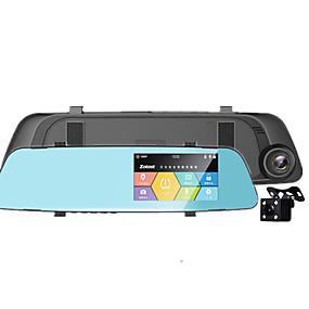 Недорогие Видеорегистраторы для авто-Новая HD-камера имеет 4,3 зеркало заднего вида с обратным изображением