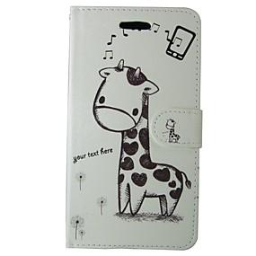 Недорогие Чехлы и кейсы для Galaxy S5 Mini-Кейс для Назначение SSamsung Galaxy S8 / S7 / S6 edge Бумажник для карт / Флип Чехол Однотонный / Животное / Мультипликация Твердый Кожа PU