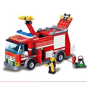 olcso Játékok & hobbi-GUDI Zenés akciófigura Építőkockák Építési készlet játékok Autó Tűzoltóautók összeegyeztethető Legoing Fiú Lány Játékok Ajándék / Fejlesztő játék