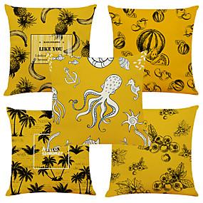 baratos Casa & Cozinha-Conjunto de 4 padrão de amor criativo linho quadrado decorativo lance fronhas capas de almofada do sofá 18x18