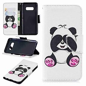 voordelige Galaxy S7 Hoesjes / covers-hoesje Voor Samsung Galaxy S9 / S9 Plus / S8 Plus Portemonnee / Kaarthouder / met standaard Volledig hoesje Panda Hard PU-nahka