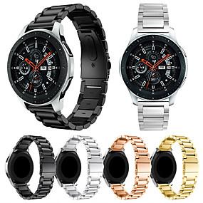 ieftine Curele Ceas pt Samsung-Uita-Band pentru Gear S3 Frontier / Gear S3 Classic / Samsung Galaxy Watch 46 Samsung Galaxy Banderola Sport Oțel inoxidabil Curea de Încheietură