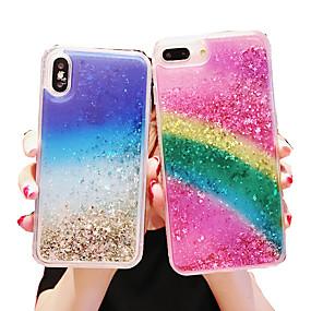 levne iPhone pouzdra-pouzdro na jablko iphone xs max / iphone 8 plus třpyt lesk / nárazuvzdorný / prachotěsný zadní kryt třpyt lesk / barevný gradient měkké tpu pro iPhone 7/7 plus / 8/6/6 plus / xr / x / xs