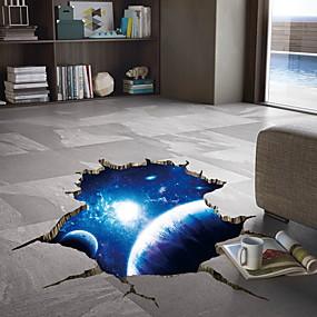 baratos Casa & Cozinha-Adesivos de parede 3d nebulosa do espaço - adesivos de parede avião floral / botânico / paisagem sala de estudo / escritório / sala de jantar / cozinha