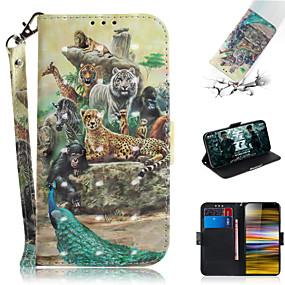 povoljno Sony-Θήκη Za Sony Sony Xperia L3 / Sony Xperia 10 / Sony Xperia 10 Plus Novčanik / Utor za kartice / sa stalkom Korice Životinja / 3D likovi PU koža