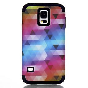 voordelige Galaxy S7 Hoesjes / covers-hoesje Voor Samsung Galaxy S7 / S6 edge / S6 Schokbestendig Achterkant Lijnen / golven / Geometrisch patroon / Kleurgradatie TPU / PC