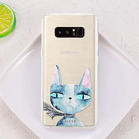 voordelige Galaxy S7 Edge Hoesjes / covers-hoesje Voor Samsung Galaxy S8 Plus / S8 / S7 edge Waterbestendig / Stofbestendig / Doorzichtig Achterkant Kat TPU
