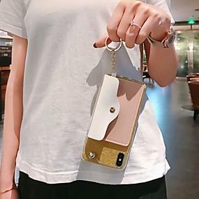voordelige Galaxy S7 Hoesjes / covers-hoesje Voor Samsung Galaxy S9 / S9 Plus / S8 Plus Portemonnee / Kaarthouder / Schokbestendig Achterkant Hart / Glitterglans TPU
