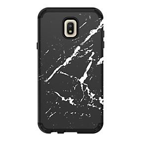 voordelige Galaxy J7 Hoesjes / covers-hoesje Voor Samsung Galaxy J7 (2018) / J7 / Galaxy J7 (2017) Schokbestendig Achterkant Lijnen / golven / Marmer PC