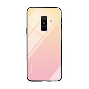 voordelige Galaxy A8 Hoesjes / covers-hoesje Voor Samsung Galaxy A6 (2018) / A9 / A8 Ultradun Achterkant Kleurgradatie Gehard glas