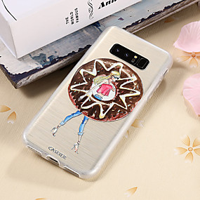 voordelige Galaxy S7 Edge Hoesjes / covers-hoesje Voor Samsung Galaxy S8 Plus / S8 / S7 edge Waterbestendig / Stofbestendig / Doorzichtig Achterkant Sexy dame TPU