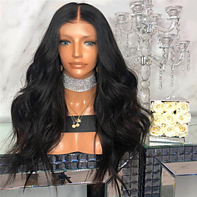 cheap Wigs & Hair Pieces-Synthetic Wig kinky Straight Style Middle Part Machine Made Wig Natural Black Synthetic Hair 26 inch Women's Women Dark Brown Wig Long Natural Wigs