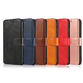 voordelige Galaxy J3 Hoesjes / covers-hoesje Voor Samsung Galaxy S9 / S9 Plus / S8 Plus Portemonnee / Kaarthouder / Flip Volledig hoesje Effen PU-nahka / TPU