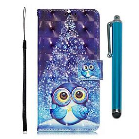 voordelige Galaxy S7 Edge Hoesjes / covers-hoesje Voor Samsung Galaxy S9 / S9 Plus / S8 Plus Portemonnee / Kaarthouder / met standaard Volledig hoesje dier PU-nahka