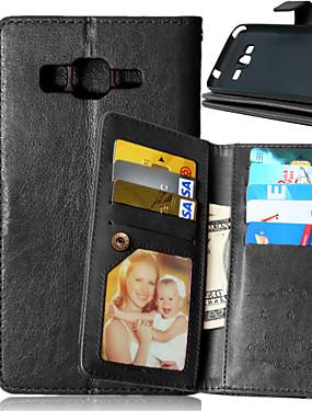ieftine Carcase Mobil-Maska Pentru Samsung Galaxy Samsung Galaxy Carcasă Portofel / Titluar Card / Cu Stand Carcasă Telefon Mată PU piele pentru J5 / J1 / Grand Prime