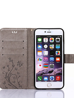 cheap iPhone 8 Plus Cases-Case For Apple iPhone X / iPhone 8 / iPhone XS Wallet / Card Holder / with Stand Full Body Cases Butterfly Hard PU Leather for iPhone XS / iPhone XR / iPhone XS Max