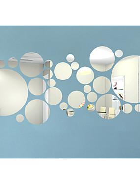 billige Hjem & Køkken-3D Vægklistermærker Vægklistermærker i Spejlstil Dekorative Mur Klistermærker, Vinyl Hjem Dekoration Vægoverføringsbillede Væg