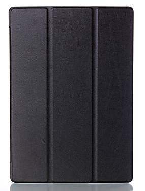رخيصةأون اكسسوارات تابليت-غطاء من أجل Lenovo قلب غطاء كامل للجسم / حالات اللوحي لون سادة قاسي جلد PU إلى Lenovo Tab 2 A10-70
