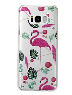 cheap Samsung Accessories New Arrivals-Case For Samsung Galaxy S8 Plus / S8 IMD / Pattern Back Cover Flamingo / Glitter Shine Soft TPU for S8 Plus / S8 / S7 edge