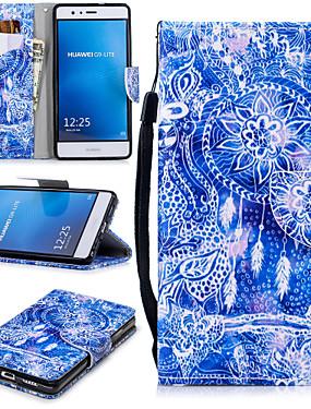 ieftine Carcase Mobil-Maska Pentru Huawei P9 Lite Portofel / Titluar Card / Anti Șoc Carcasă Telefon Prinzător de vise Greu PU piele pentru Huawei P9 Lite