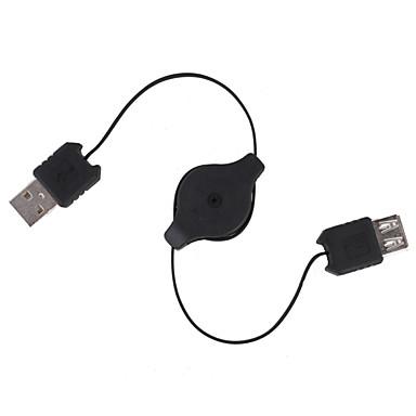 cabo de extensão USB retrátil (70cm de comprimento)