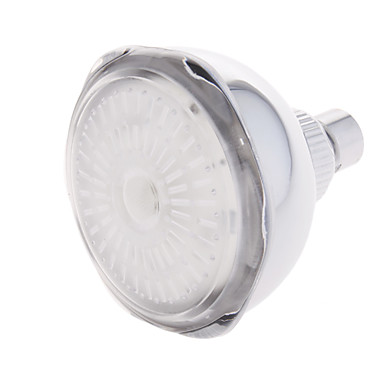Temperature Sensitive 3-Color LED Shower Head (Stainless Steel, Chrome Finish)
