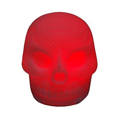 Schädel geformten bunten LED-Nachtlicht (3xAG13)